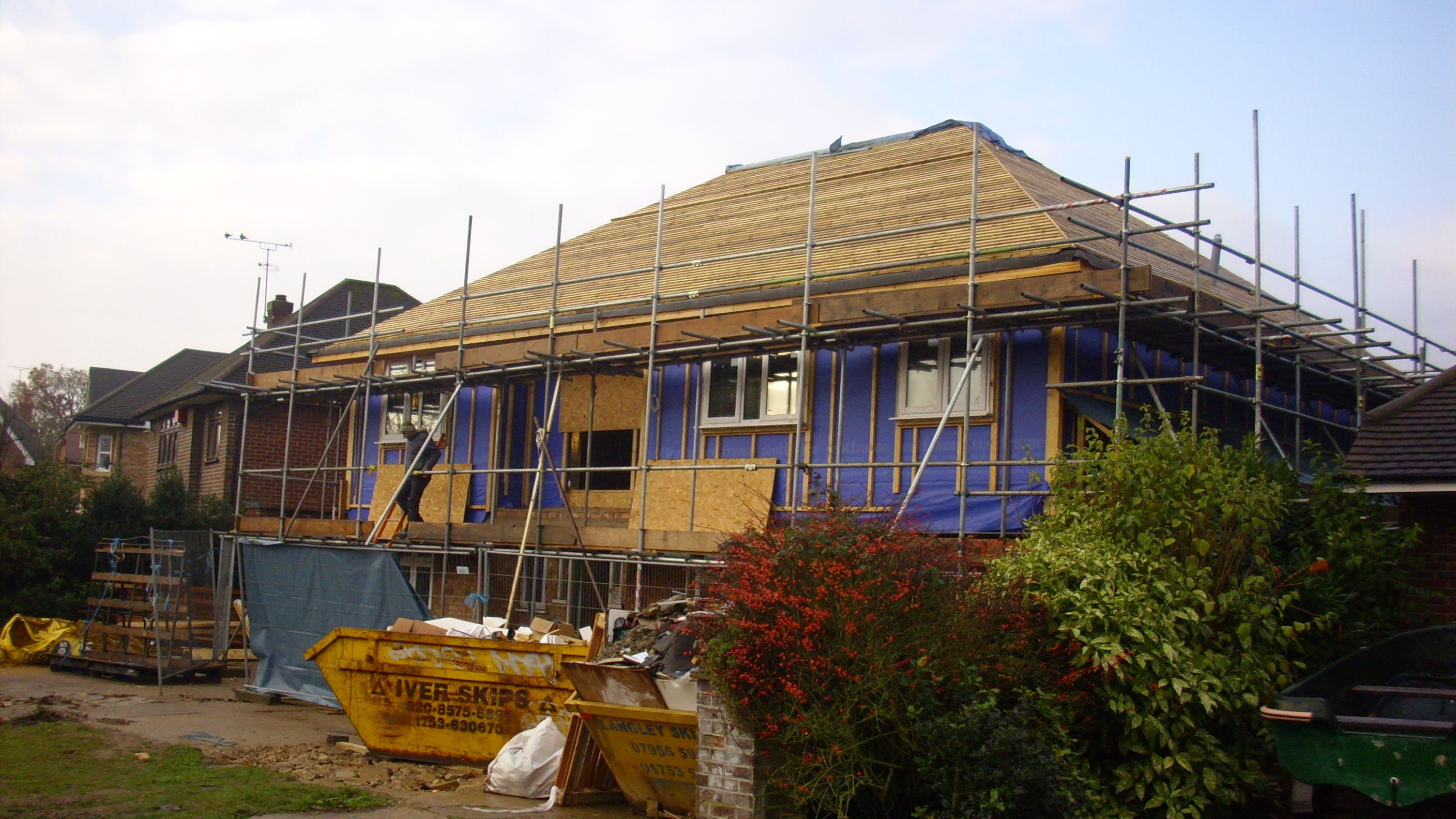 Eco house before the solar PV installation
