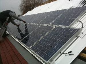 Roof Integrated Solar PV Installation