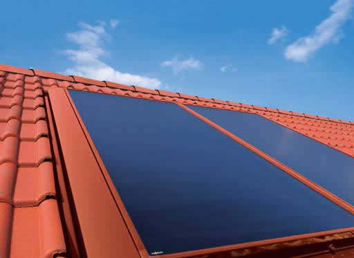Roof Integrated Flat Plate Solar Thernmal System