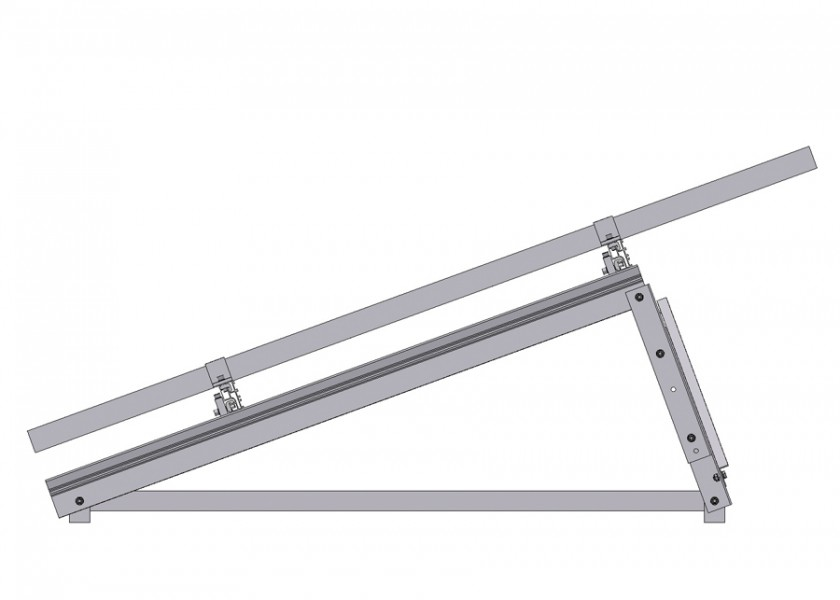 Flat Roof Frame Side View
