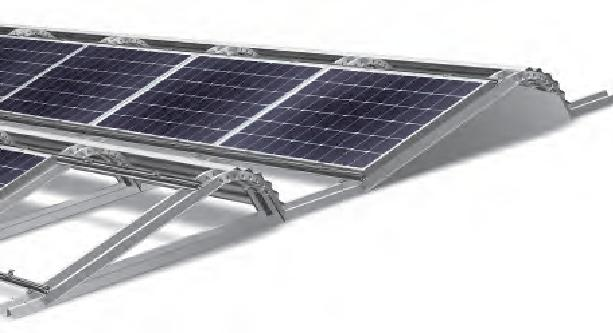 Lambda Light - Commercial Flat Roof Solar PV Mounting System