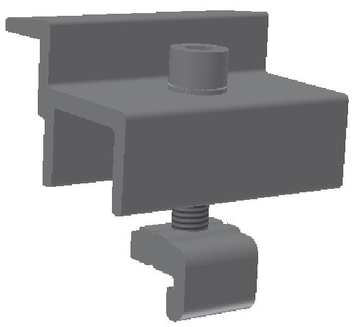 FlatFix Light - Module End Clamp