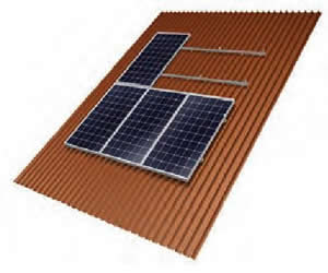 On Roof Solar Panel Roof Mounting System Pv Panel Frame